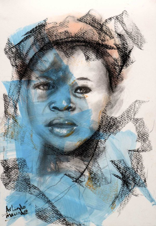 Abstract of a young girl