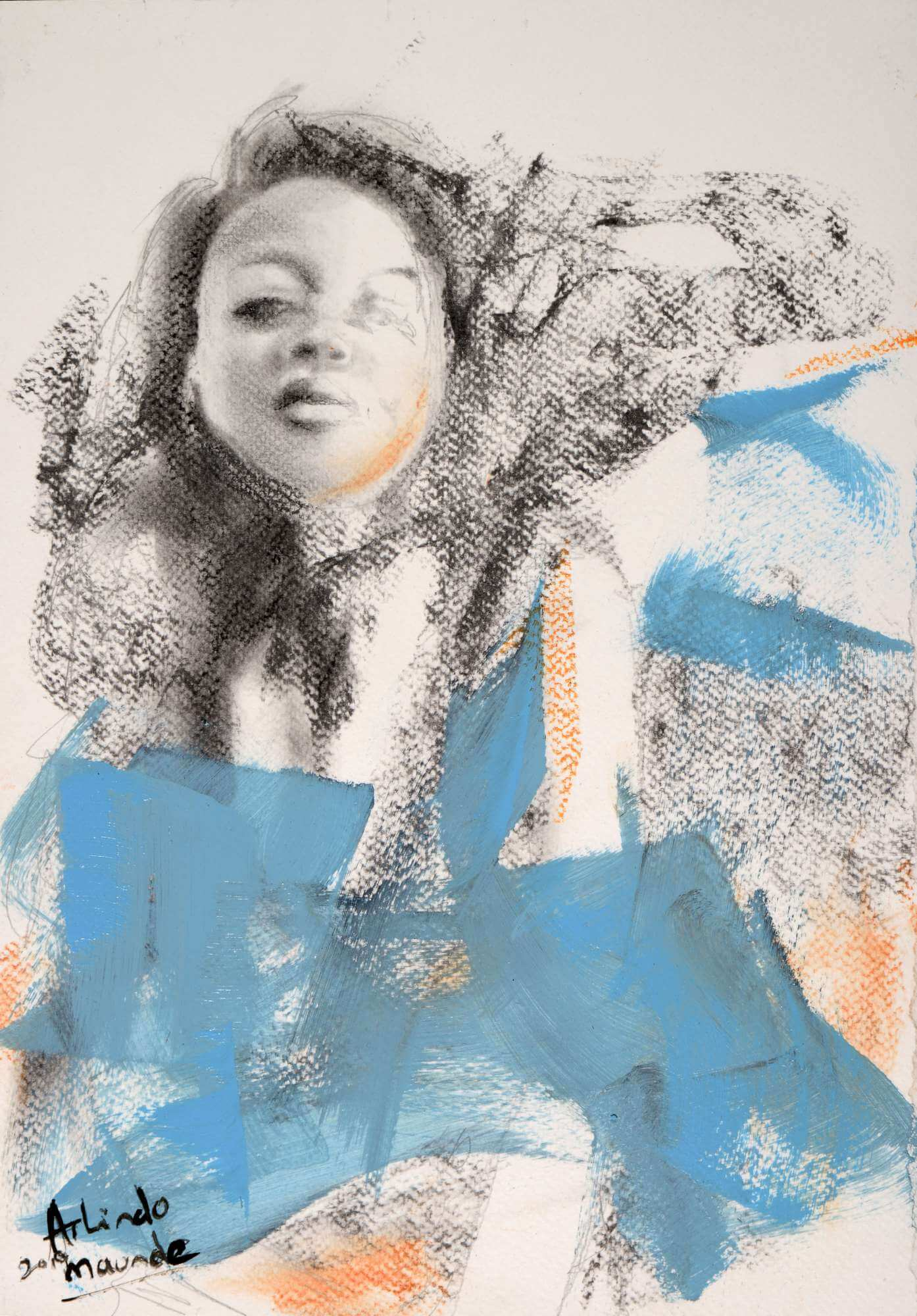 Abstract of a young woman