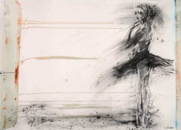 Abstract ballet dancer on a white background