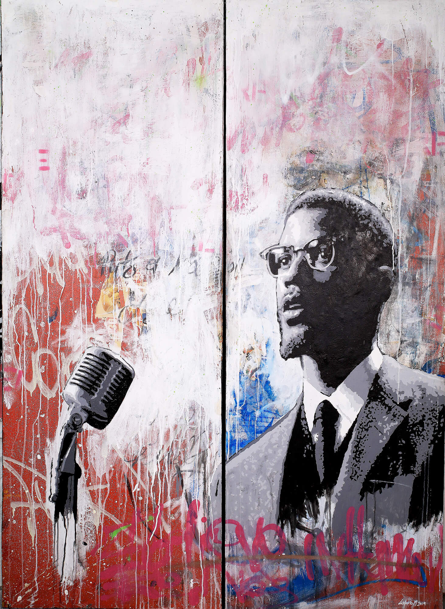 The future belongs to those who prepare for it today (Diptych) - Ludumo Toto Maqabuka